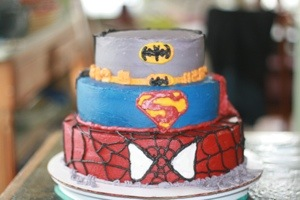 Superhero Cake for my sons birthday pic 1